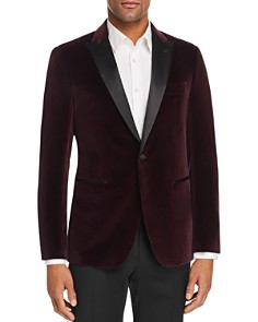 John Varvatos Star USA - Bleeker Velvet Slim Fit Dinner Jacket with Satin Lapel